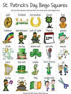 st patricks day bingo game st patrick day activities