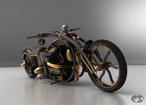 black motorbike motorcycle 74 steunk chopper black widow by