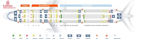 Seat map Airbus A340 300 Emirates Best seats in the plane
