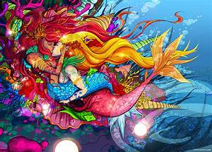 Mermaid Love Art Pictures, Photos, and Images for Facebook ...
