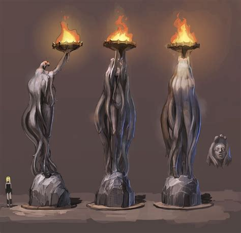 Statue Video Games Artwork