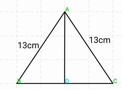 Triangle Isosceles Length Side Base Altitude Equal