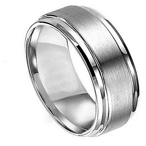 photo gallery of masculine wedding rings viewing 5 of 15