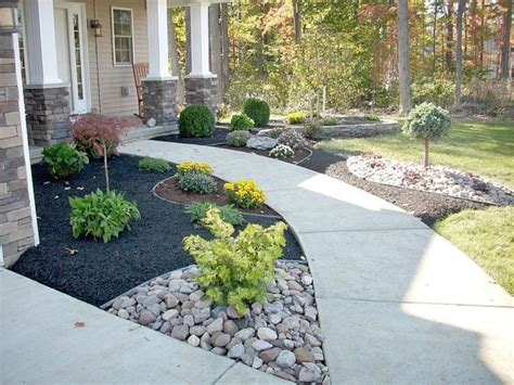 concrete front yard landscaping concrete pathway with country styled landscaping ideas for small front yard design nytexas