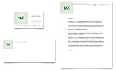 accounting tax services business card letterhead