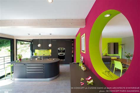 cuisine architecte cuisine fantaisiste toute en couleur sk concept la