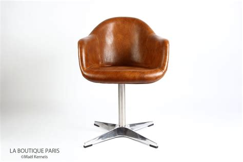 fauteuil bureau cuir marron fauteuil de bureau dawson cuir marron aéro alu design
