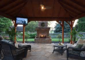 Outdoor Pavilion with Fireplace and Kitchen