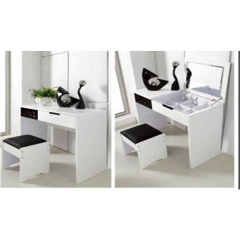Oak Dresser Mirror by Trentino Black White High Gloss Dressing Table