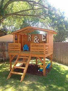 16 Creative Kids Wooden Playhouses Designs For Your Yard