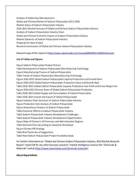 2016 2021 sodium polyacrylate market global and