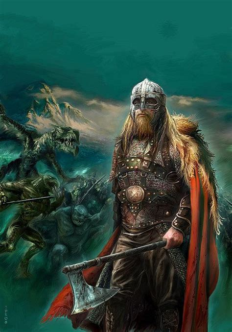 viking warrior fantasy vikings norse warriors medieval rpg patrik jan artist artwork mythology valhalla ranks covers battle krasny axe mas