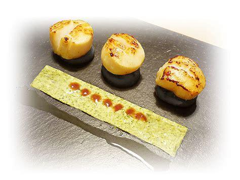 recette de cuisine gastronomique facile jacques sur boudin noir tapis de sauce au persil