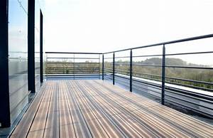 Garde De Corps Terrasse : barriere exterieur terrasse planche bois pour cloture ~ Melissatoandfro.com Idées de Décoration