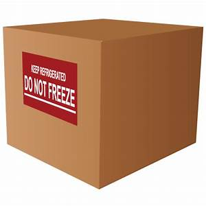 keep refrigerated do not freeze stickers With keep refrigerated label