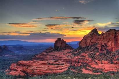 Sedona Arizona Oscilla Hotels Tramonto Rosso Colore