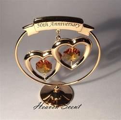 50th wedding anniversary gift 50th golden wedding anniversary gift ideas gold plated swarovski crystals sp250 ebay