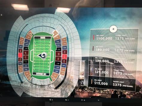 rams seating chart  stadium nice houzz