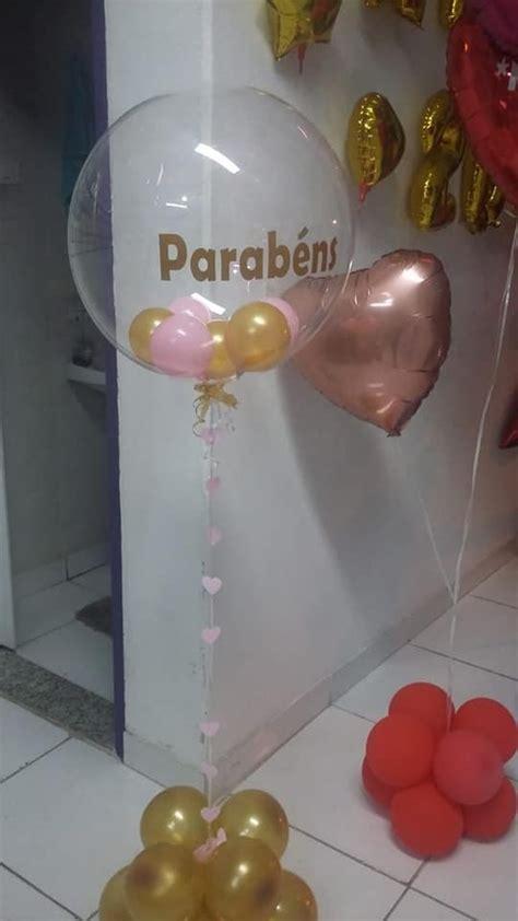 balao bubble transparente  nome personalizado  bolas