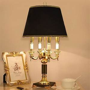Luxury, Fashion, Black, Crystal, Table, Lamp, Bedroom, Bedside, Lamp, Lamps, Brief, Modern, Decoration, Led