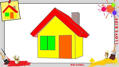 Haus Zeichnen 3 Schritt Für Schritt Für Anfänger & Kinder