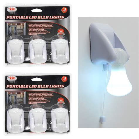 Led Lights At Walmart by 6 Pk Portable Led Bulb Cabinet L Light Battery
