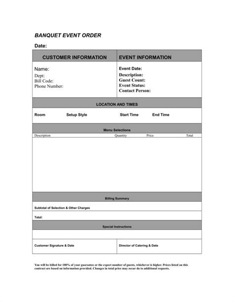 event order form templates google docs google