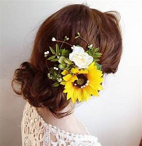 Sunflower Hair Clip Sunflower Hair Comb Yellow By
