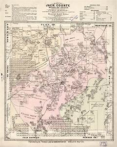 Printed Resources Map Of Jack County State Of Texas Exhibiting The Extent