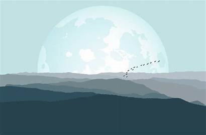 Smoky Mountains 4k Mountain Wallpapers Moon Minimalism