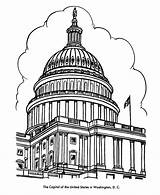 Coloring Buildings Dome Capitol Building Dc Washington Pages Usa Adult Colouring Sheet American Landmarks Printables Drawing Symbols Map Clipart Books sketch template