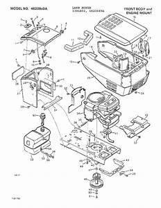 Front Body  Engine Mount Diagram  U0026 Parts List For Model