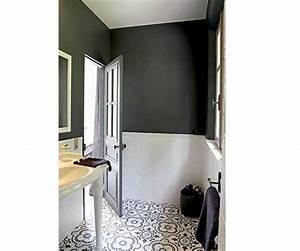 La déco salle de bain en carreaux de ciment c'est chouette