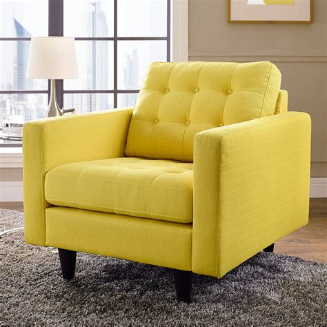 Modern Lounge Chairs  Enfield Yellow Chair Eurway