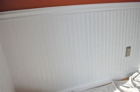 Installing Wainscoting by How To Install Beadboard Wainscoting One Project Closer