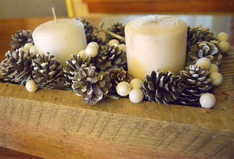 Rustic Winter Pine Cone Centerpiece   PA Country Crafts