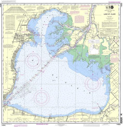 noaa chart  lake st clair