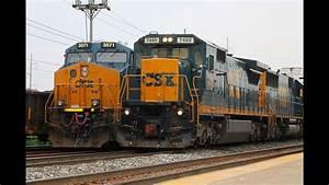 Hd  4 Trains Pass Each Other  Railfanning Csx  Amtrak At