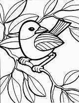 Coloring Bird Pages Printable Colouring Sheet Child sketch template