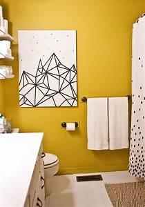 Diy wall art bathroom : Diy wall decorations with washi tape