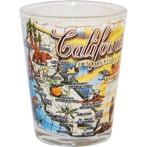 california state map souvenir shot glass
