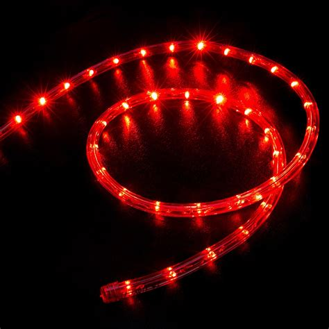50 red led rope light home outdoor christmas lighting