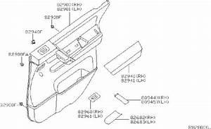Nissan Titan Door Interior Trim Panel Bracket  Left  Rear   Trimming  Body