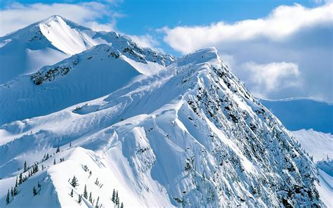Mountain Snow Hd Wallpapers