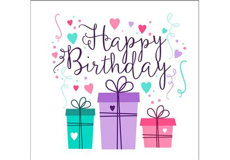 Birthday Card Design  Download Free Vector Art, Stock