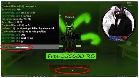 Ro Ghoul Rc Codes List
