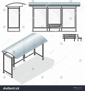 Bus stop empty design template branding stock vector for Photo templates from stopdesign image info