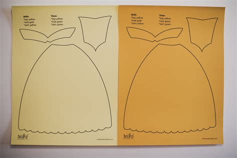 Princess Cut Out Template by Disney Princess Dress Paper Templates Reiko Handcrafted