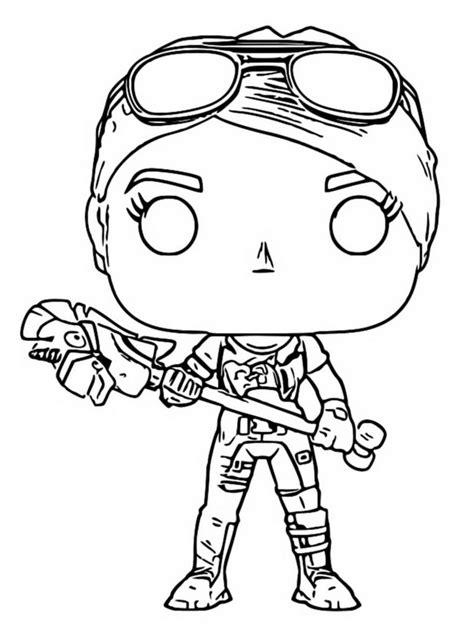 coloring page funko pop fortnite brite bomber