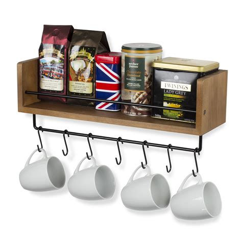 Personalize your coffee cup gift card holder. Rustic State William Wall Mountable Floating Shelf with ...